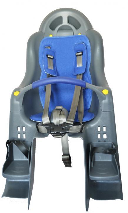 Кресло детское SW-BC-179, вес ребёнка до 22 кг, серое, крепление на подседельную трубу, SUNNY WHEEL
