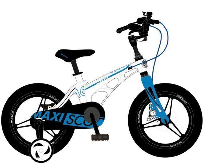 """Детский 2- колесный велосипед Maxiscoo Cosmic Делюкс, 16"""" (2021)"""