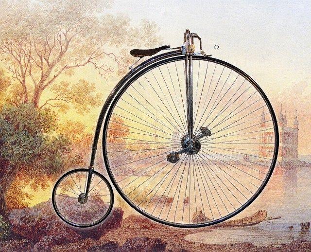 Английский велосипед Паук Александра III